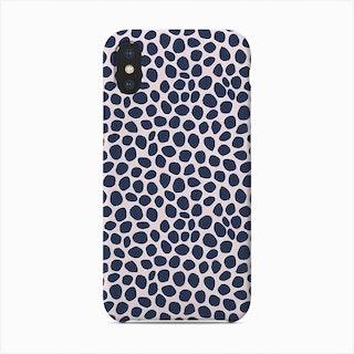 Navy Dots Phone Case