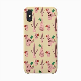 Mid Mod Cactus Pink   Phone Case