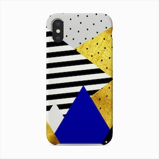Gold Abstract Blue  Phone Case