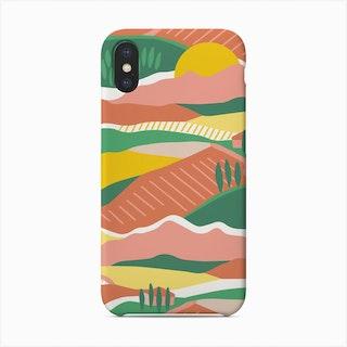Tuscany Sunny Landscape Phone Case