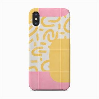 Sunny Doodle Tiles 01 Phone Case