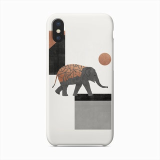 Elephant Mosaic I Phone Case