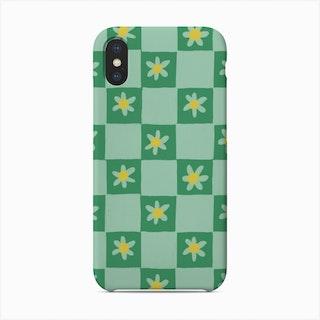 Green Checkerboard Phone Case