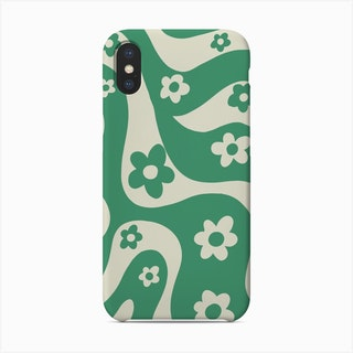 Green And White Phone Case