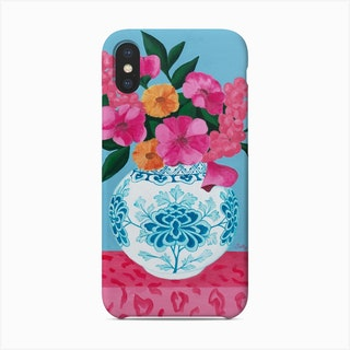 Chinoiserie Vase And Flowers Phone Case