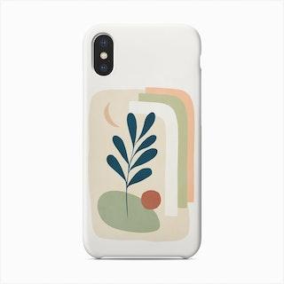 Earthy Tropical Foliage Blue 5 Phone Case