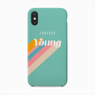 Forever Young Retro Blue Phone Case