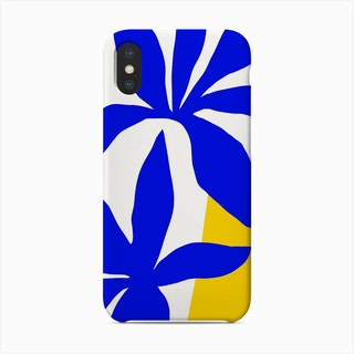 Matisse Inspired 2 Blue And Yellow Phone Case