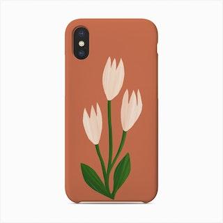 White Tulips Phone Case