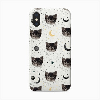 Cute Cats And Space Pattern Phone Case