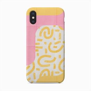 Sunny Doodle Tiles 02 Phone Case