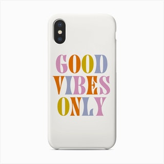 Good Vibes Only Retro Colours Phone Case