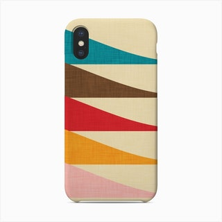Mid Mod Waves   Phone Case