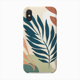 Earthy Tropical Foliage Blue 6 Phone Case