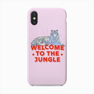 Welcome To The Jungle Retro Tiger Phone Case