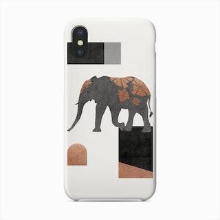 Elephant Mosaic Ii Phone Case