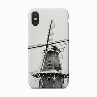 Dutch Windmill On White Background Phone Case