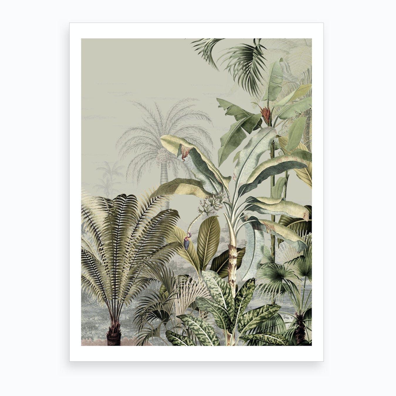 Dreamy Jungle Dark Art Print