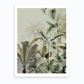 Dreamy Jungle Dark Art Print