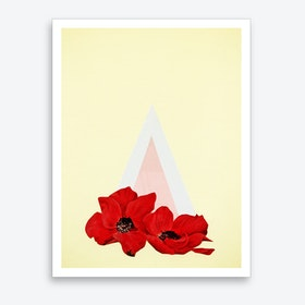 Floral Triangle Art Print