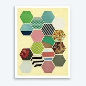 Florals and Stripes Art Print