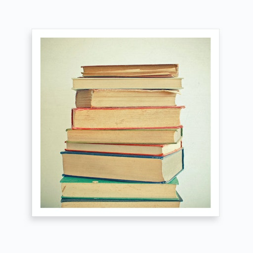 Stack Of Books Print
