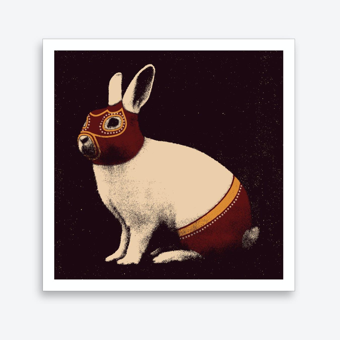 Wrestler Rabbit Art Print