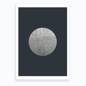 Silver Moon Blue Art Print