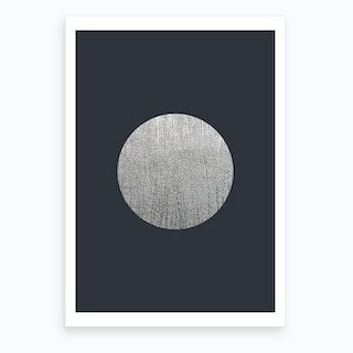 Silver Moon Blue Art Print