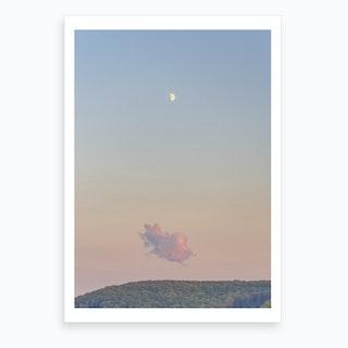 Forest Cloud Moon Art Print