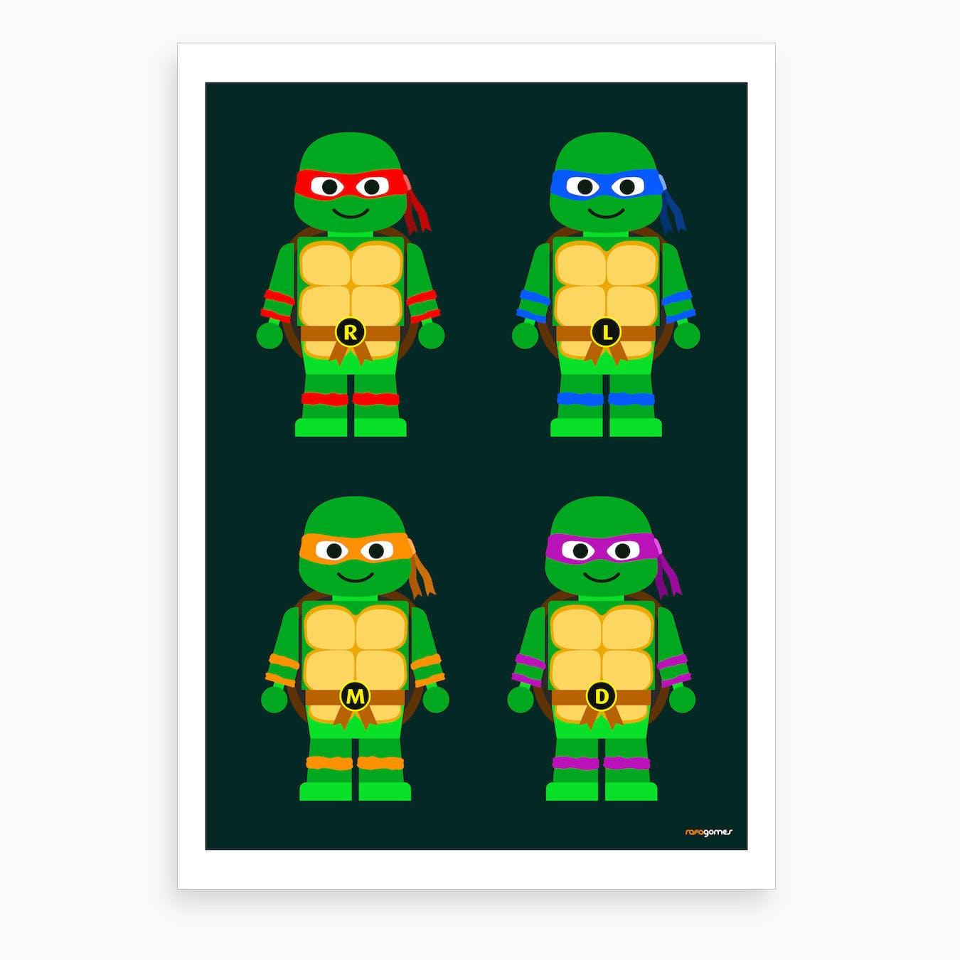 Toy Teenage Mutant Ninja Turtles Art Print
