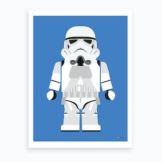 Toy Stormtrooper Art Print