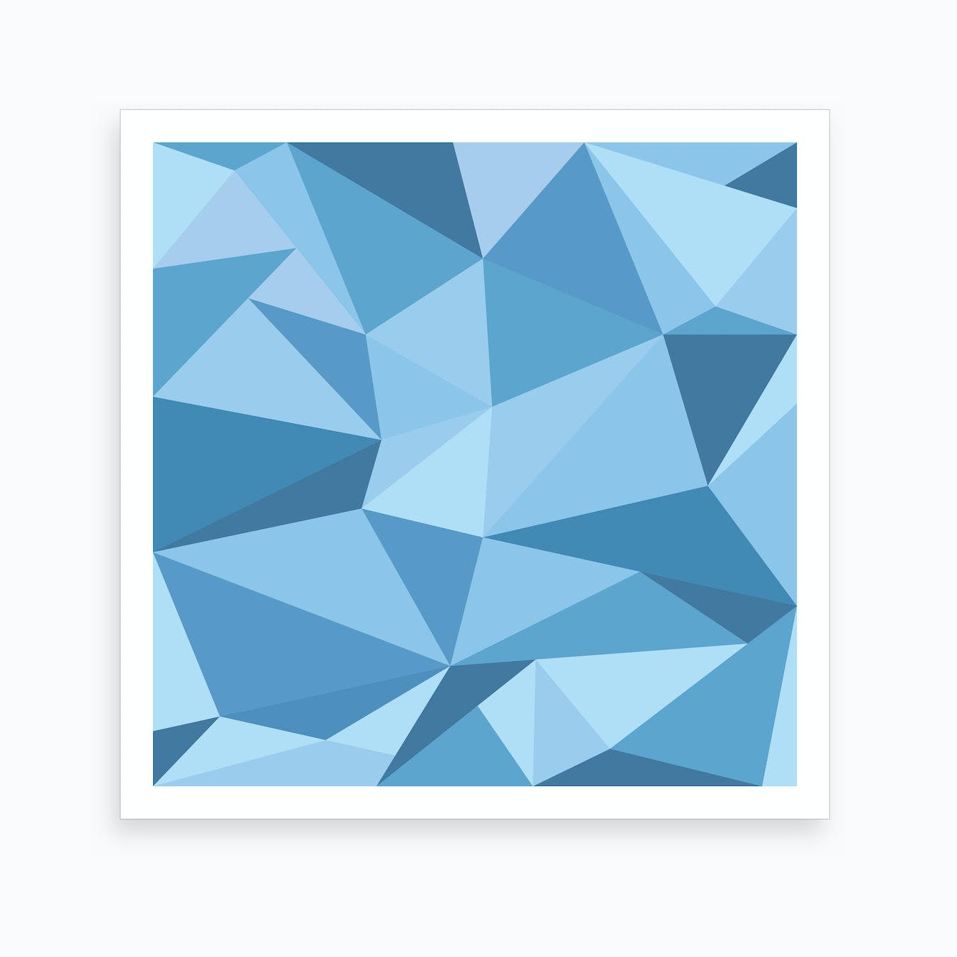 Fifty Shades of Blue - Square