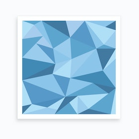 Fifty Shades of Blue - Square Art Print