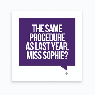 New Years Eve - The Same Procedure - Square Art Print