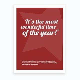 Christmas - It's the Most Wonderful Time II Art Print