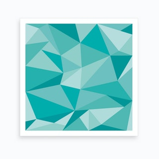 Fifty Shades of Green - Square Art Print