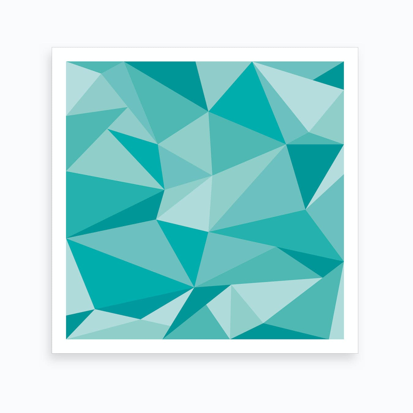 Fifty Shades Of Green Square Art Print By Posterboy Fy