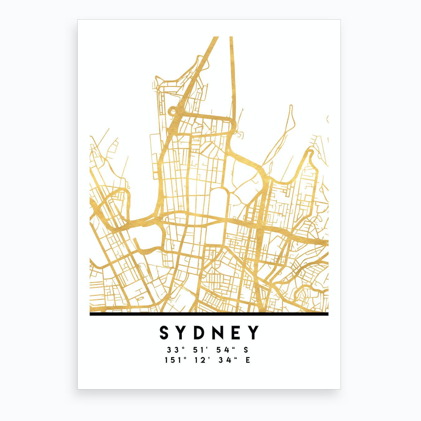 Sydney Australia City Street Map