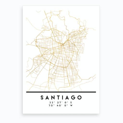 Santiago de Chile City Street Map