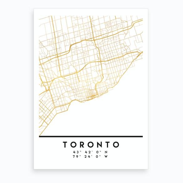 Toronto Canada City Street Map By Deificus Fy