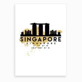 Singapore Silhouette City Skyline Map