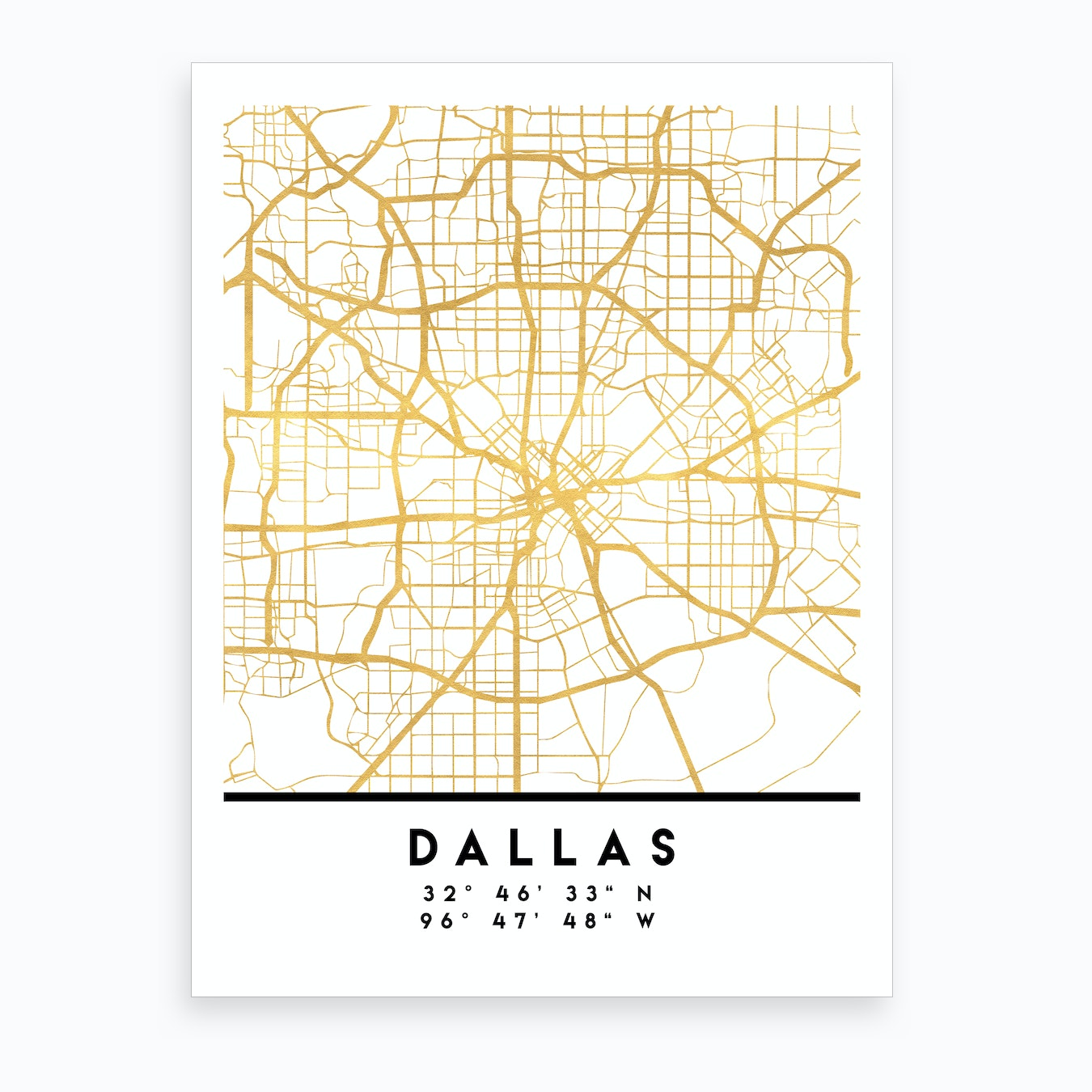 Map Of Texas City.Dallas Texas City Street Map