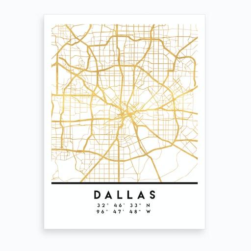 Dallas Texas City Street Map
