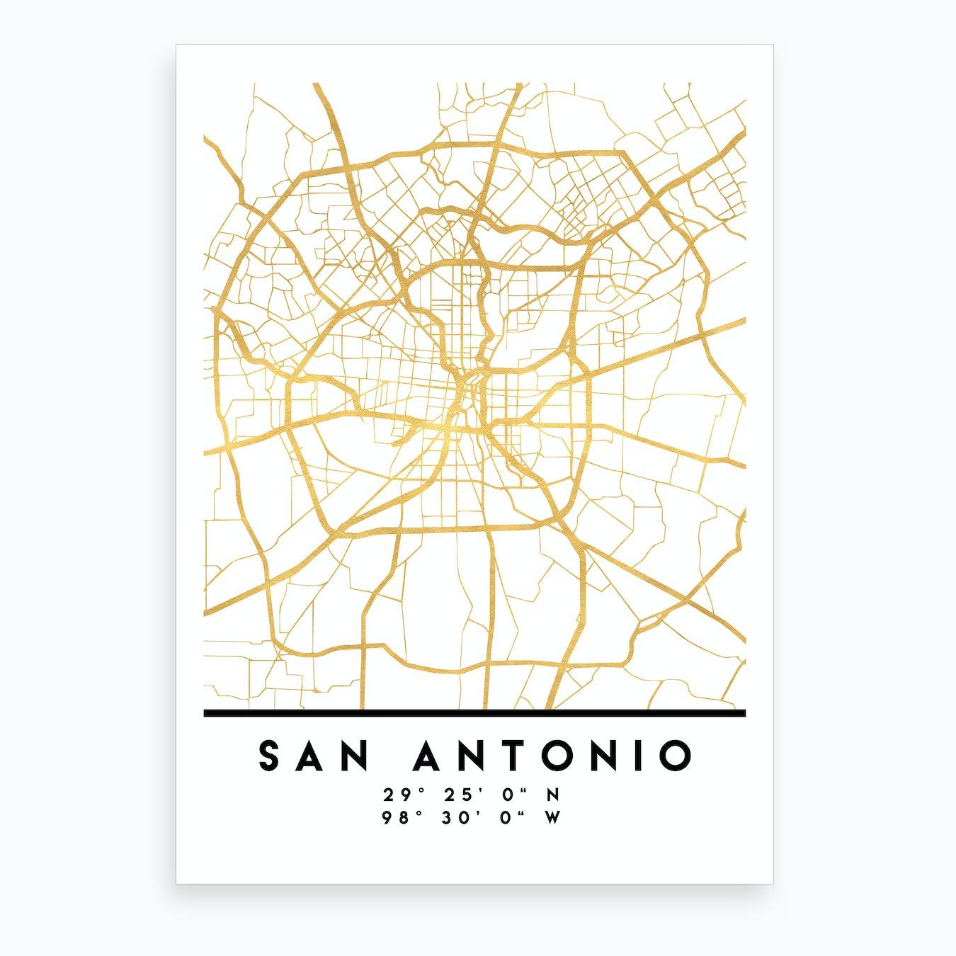 San Antonio Texas City Street Map