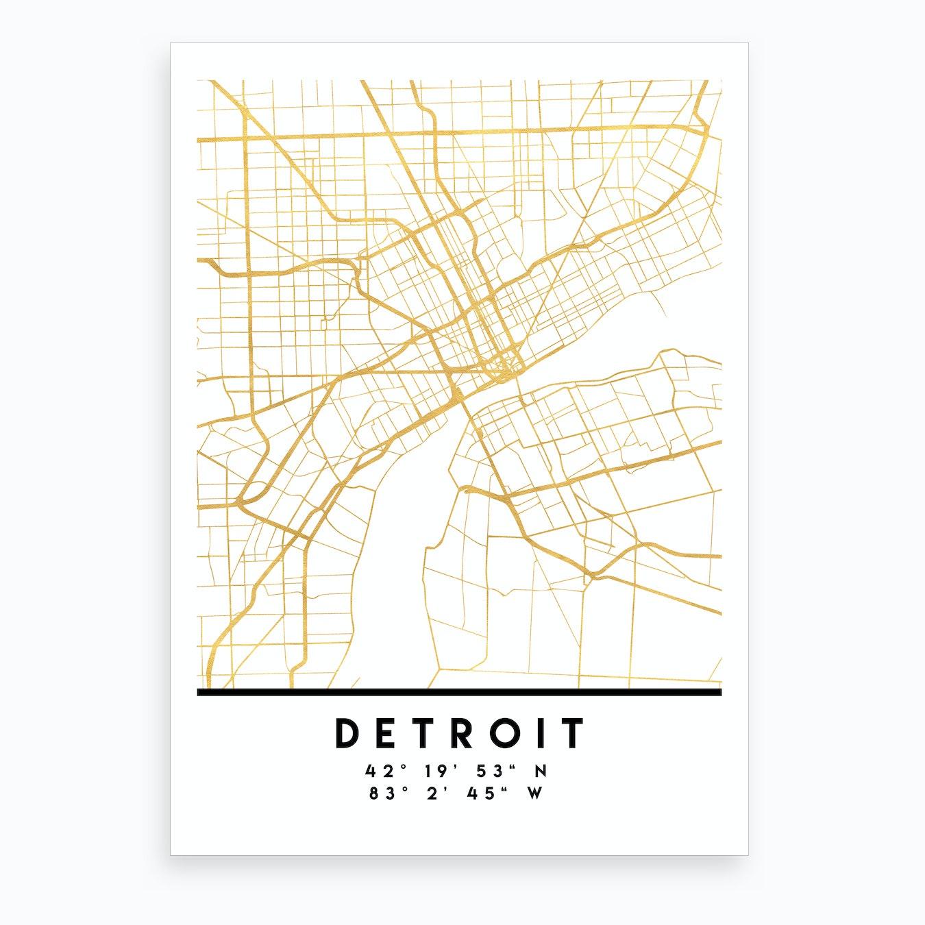 Detroit Michigan City Street Map