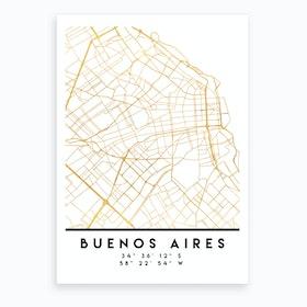 Buenos Aires City Street Map Art Print