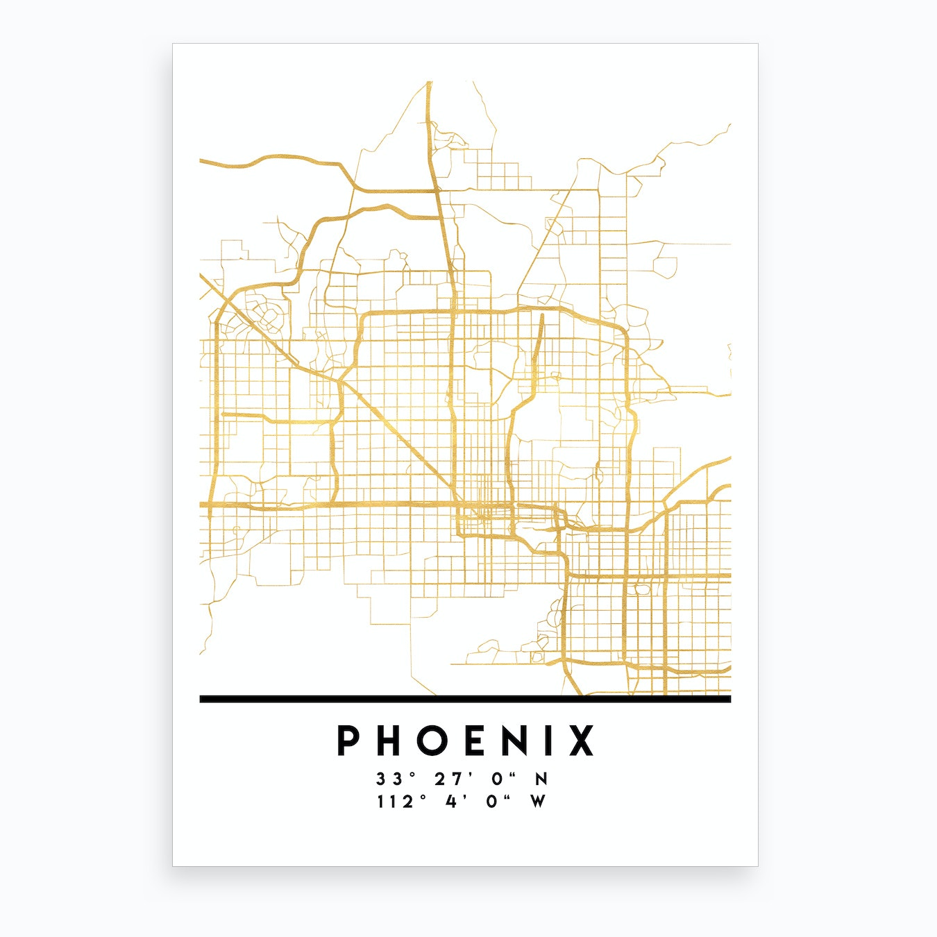 Phoenix Arizona City Street Map Art Print on town of fountain hills map, city of oakland map, town of oro valley map, town of payson map, city of mesa map, phoenix city parks map, city of cincinnati map, phoenix az map, university of phoenix map, phoenix zip code map, city of chandler map, city of atlanta map, phoenix city council district map, interactive us highway map, city of peoria map, phoenix street map, arizona map, city of houston map, city of buckeye map, phoenix weather map,