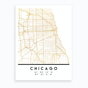 Chicago Illinois City Street Map