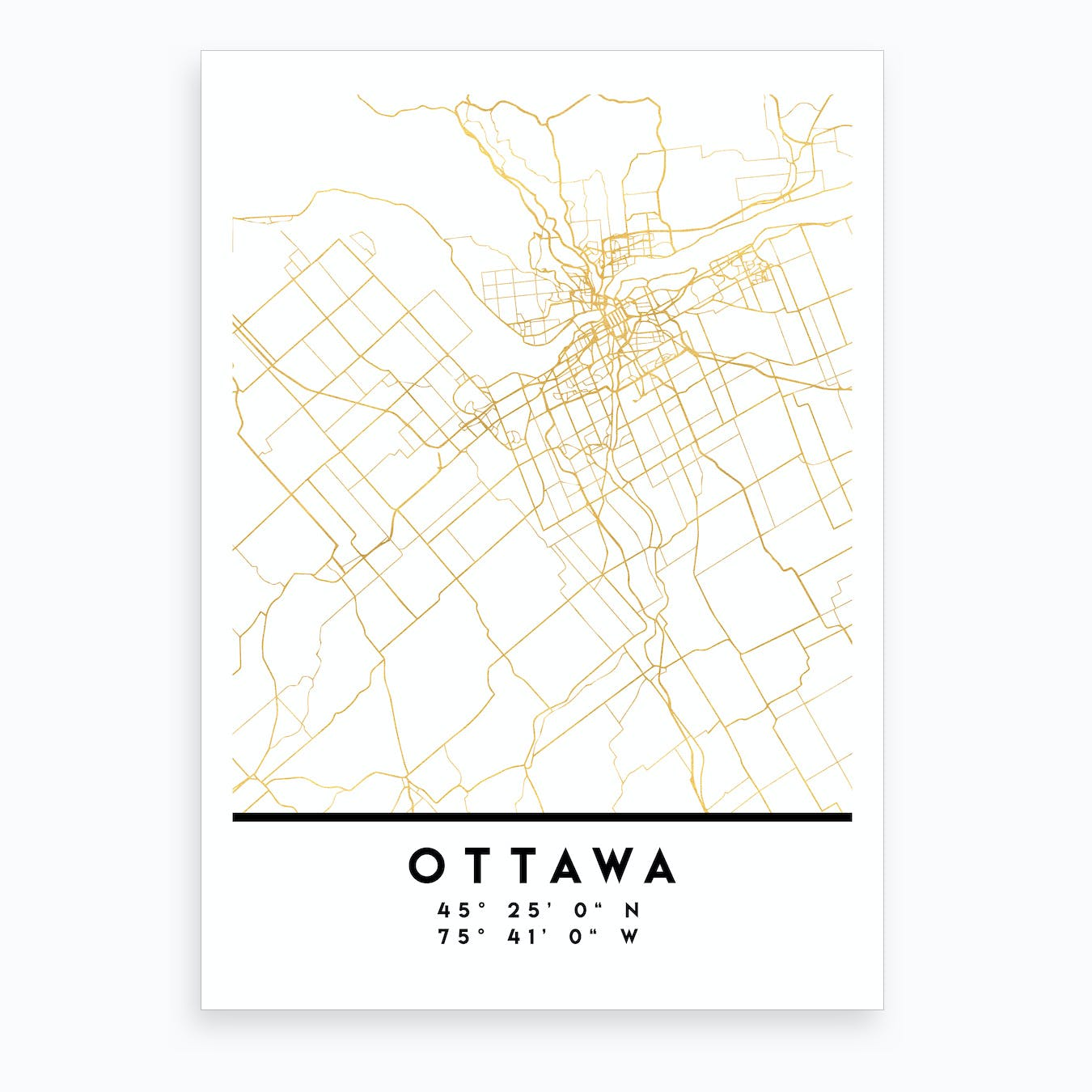 Ottawa Canada City Street Map